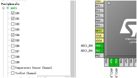 Stm32cubeMx配置ADC多通道采集