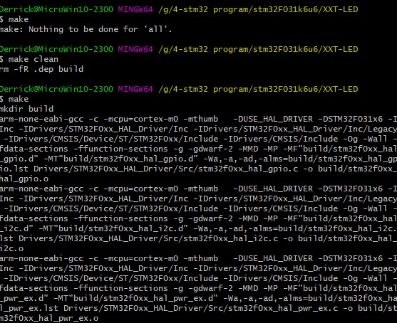 windows下用命令行来编译stm32