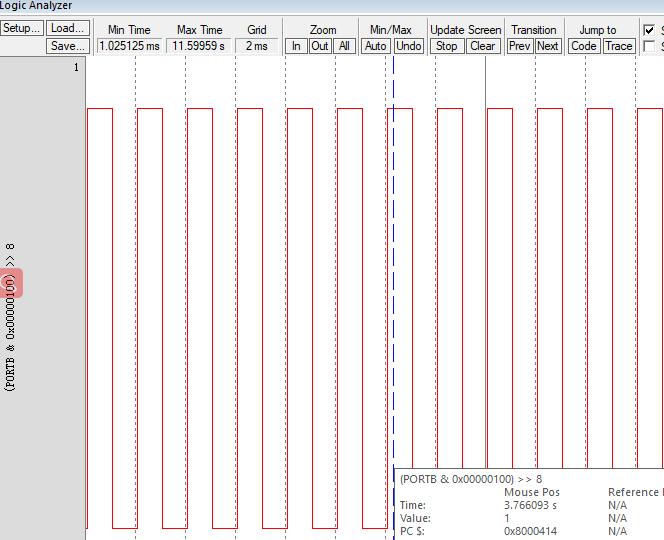 MDK仿真下逻辑分析仪无法查看引脚变化
